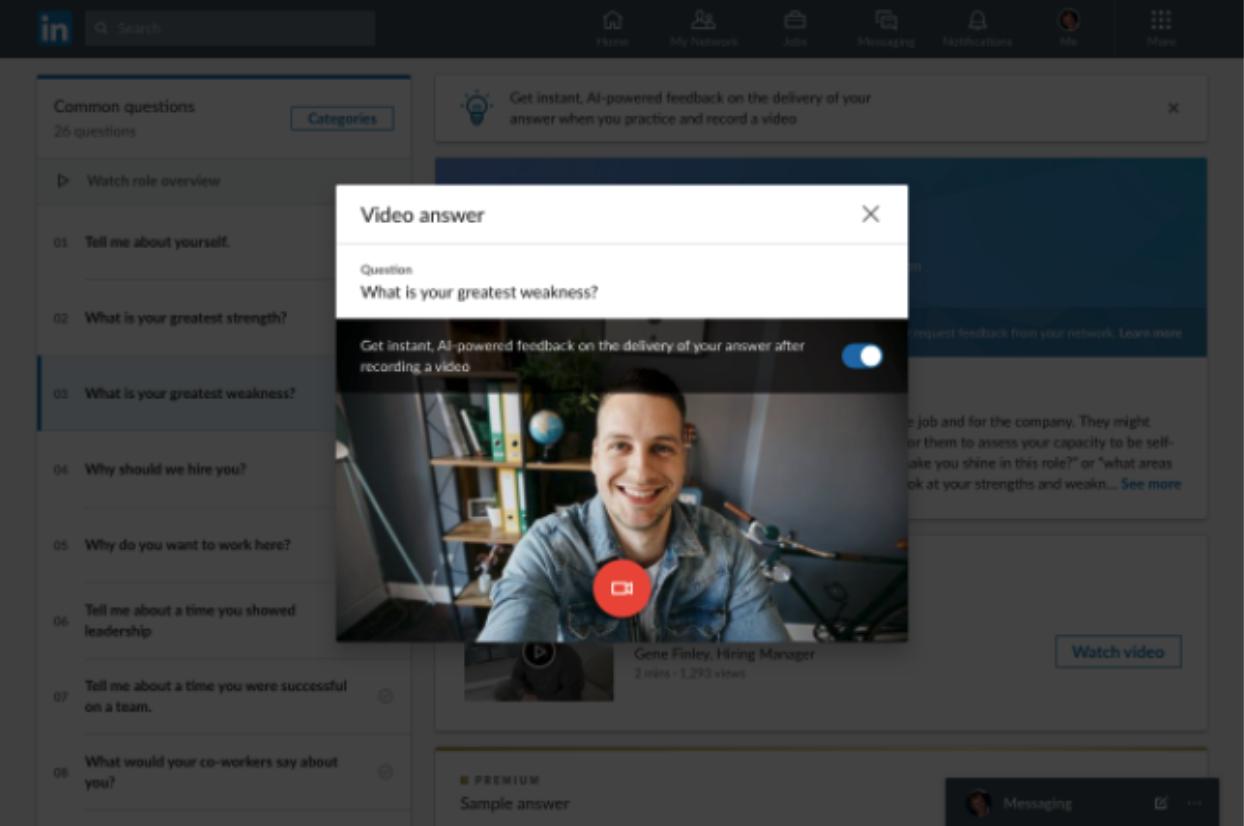 LinkedIn Interview Preparation Feature