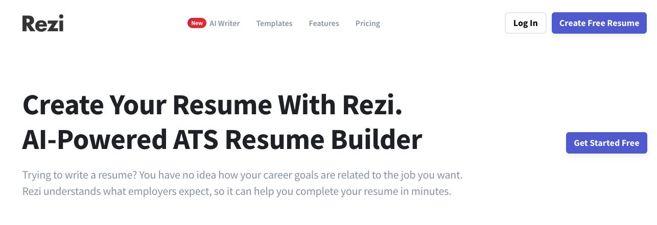 ATS Resume Builder with Rezi.
